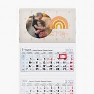 Kalendarz trójdzielny, Lastryko, 30x85
