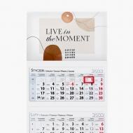 Kalendarz trójdzielny, Live in the moment, 30x85