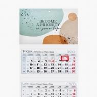 Kalendarz trójdzielny, Become a priority in your life, 30x85