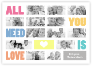 Plakat, All you need is love, 30x20 cm