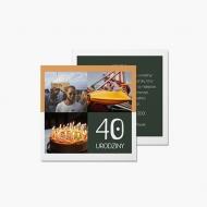 Fotokartki 40-ste urodziny, 14x14 cm
