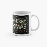 Kubek, Merry Xmas - Czarny