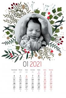 Kalendarz, Merry Xmas, 30x40 cm