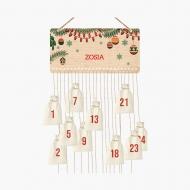 Kalendarz adwentowy, Choinka, 37x18 cm