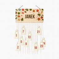 Kalendarz adwentowy, Rozrzucone prezenty , 37x18 cm