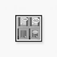 Plakat w ramce, Kolekcja Ptaszek Staszek - Trzymaj ptaka, 35x35  cm
