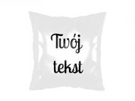 Poduszka, satyna, Twój tekst, 38x38 cm