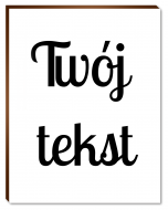 Fotopanel, Twój tekst, 20x30 cm