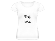 Koszulka damska, Twój tekst