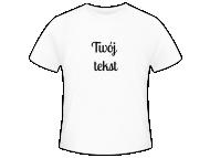 Koszulka męska, Twój tekst