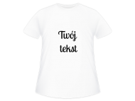 Koszulka dziecięca, Twój tekst