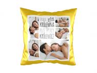 Poduszka, zamsz, Śpiąca królewna i śpiący królewicz, 40x40 cm
