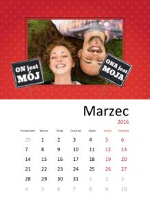 Kalendarz, Ona i On, 30x40 cm