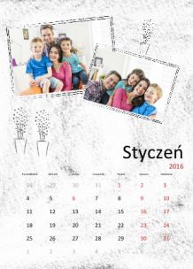 Kalendarz, Barwy codzienności , 30x40 cm