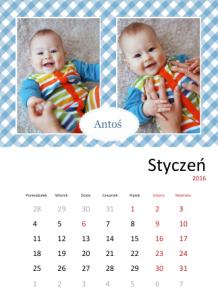 Kalendarz, Kalendarz szkraba, 30x40 cm