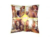 Poduszka, bawełna, Zwariowane podróże, 25x25 cm