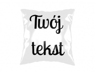 Poduszka, bawełna, Twój tekst, 40x40 cm
