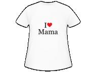 Koszulka dziecięca, I love imię