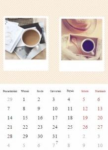 Kalendarz, Twoje zdjęcia z Instagrama, 30x40 cm