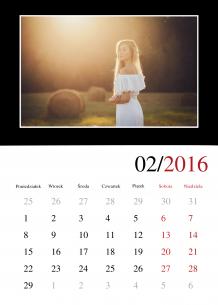 Kalendarz, Twój projekt kontrastowy, 30x40 cm