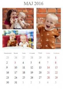 Kalendarz, Twój projekt kalendarza, 30x40 cm